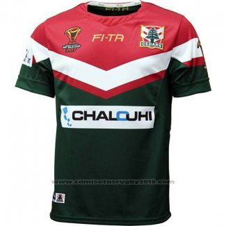 Camiseta Lebanon Cedars Rugby RLWC 2017 Local
