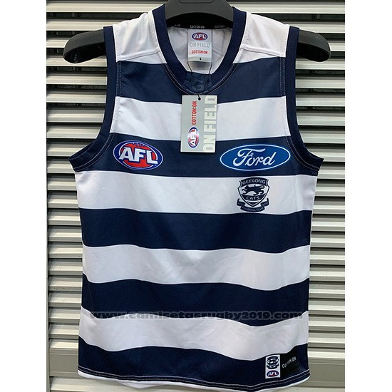 Camiseta Geelong Cats AFL 2019 Azul Blanco